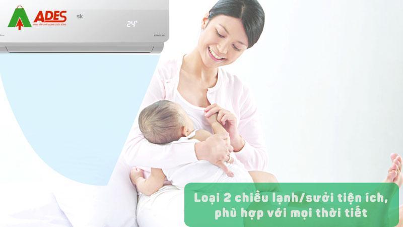 loai 2 chieu lanh/suoi tien ich