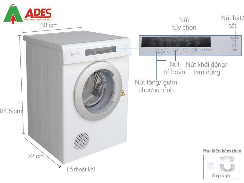 Cau tao may say Electrolux7.5 kg EDV7552